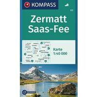Kompass Wandelkaart 117 Zermatt Saas-Fee