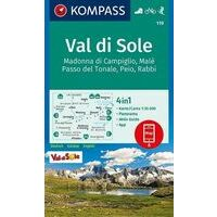 Kompass Wandelkaart 119 Val Di Sole