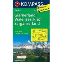 Kompass Wandelkaart 126 Glarnerland
