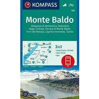 Kompass Wandelkaart 129 Monte Baldo
