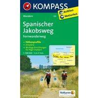 Kompass Kompass 133 Sint Jacobsroute 1:100.000