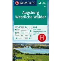 Kompass Wandelkaart 162 Augsburg - Westliche Wälder