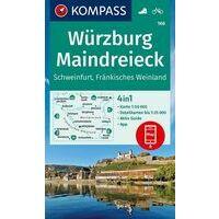 Kompass Wandelkaart 166 Würzburg - Maindreieck