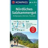 Kompass Wandelkaarten 18 Nordliches Salzkammergut