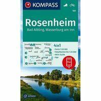 Kompass Wandelkaart 181 Rosenheim - Bad Aibling