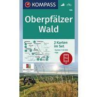 Kompass Wandelkaart 186 Oberpfälzer Wald
