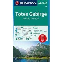 Kompass Wandelkaart 19 Totes Gebirge - Almtal