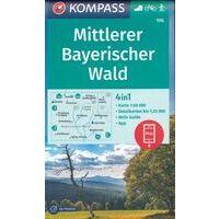 Kompass Wandelkaart 196 Mittlerer Bayerischer Wald