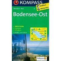 Kompass Wandelkaart 1b Bodensee Ost
