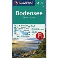 Kompass Wandelkaart 1C Bodensee Gesamtgebiet