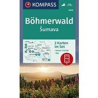 Kompass Wandelkaart 2000 Böhmerwald - Sumava