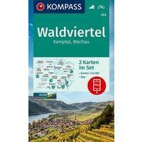 Kompass Wandelkaarten 203 Waldviertel - Kamptal