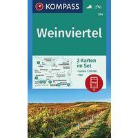 Kompass Wandelkaart 204 Weinviertel