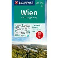Kompass Wandelkaarten Wenen 205 Wien Und Umgebung