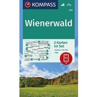 Kompass Wandelkaart Set 208 Wienerwald