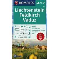 Kompass Wandelkaart 21 Liechtenstein