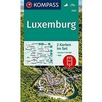 Kompass Wandelkaarten 2202 Luxemburg