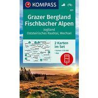 Kompass Wandelkaart 221 Grazer Bergland