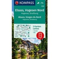 Kompass Wandelkaart 2220 Elzas - Vogezen Noord