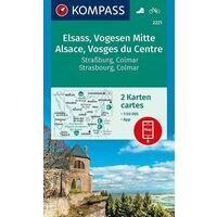 Kompass Wandelkaarten 2221 Elzas - Vogezen Centraal
