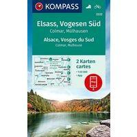 Kompass Wandelkaart 2222 Elzas - Vogezen Zuid