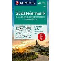 Kompass Wandelkaarten 226 Südsteiermark
