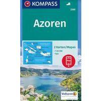 Kompass Wandelkaarten 2260 Azoren