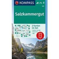 Kompass Wandelkaarten 229 Salzkammergut