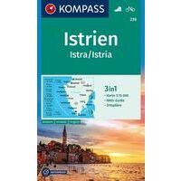 Kompass Wandelfietskaart 238 Istrië 1:75.000
