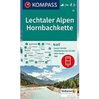 Kompass Wandelkaart 24 Lechtaler Alpen - Hornbachkette