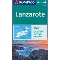 Kompass Wandelkaart 241 Lanzarote