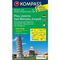 Kompass Wandelkaart 2457 Pisa Livorno San Gimignano