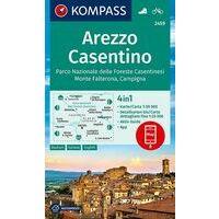 Kompass Wandelkaart 2459 Arezzo Casentino