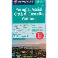 Kompass Wandelkaart 2464 Perugia - Assissi