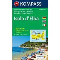 Kompass Wandelkaart 2468 Isola D'Elba