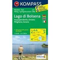 Kompass Wandelkaart 2471 Lago Di Bolsena