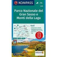 Kompass Wandelkaart 2476 Nationaal Park Gran Sasso