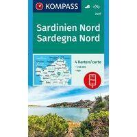 Kompass Wandelkaarten Set 2497 Sardinië Noord