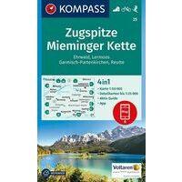 Kompass Wandelkaart 25 Zugspitze