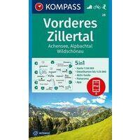 Kompass Wandelkaart 28 Vorderes Zillertal