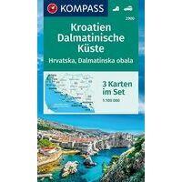 Kompass Wandelkaarten 2900 Kroatië - Dalmatische Kust