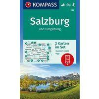 Kompass Wandelkaart 291 Salzburg Und Umgebung