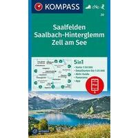 Kompass Wandelkaart 30 Saalfelden - Saalbach