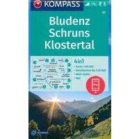 Kompass Wandelkaart 32 Bludenz - Schruns - Klostertal
