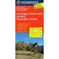 Kompass 3412 Fietskaart Vinschgau, Stelvio 1:70.000