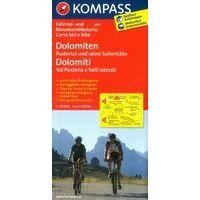 Kompass 3413 Fietskaart Val Pusteria In De Dolomieten 1:70.000