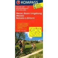 Kompass 3414 Fietskaart Merano En Bolzano 1:70.000