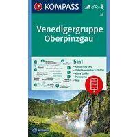 Kompass Wandelkaart 38 Venedigergruppe - Oberpinzgau