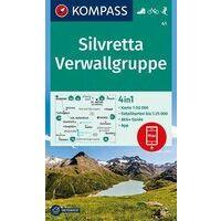 Kompass Wandelkaart 41 Silvretta - Verwallgruppe