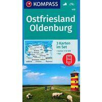 Kompass Wandelkaarten 410 Ostfriesland - Oldenburg